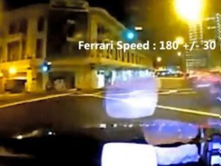 Φωτογραφία για Τρομακτικό τροχαίο on camera! Ferrari πέφτει πάνω σε ταξί, 3 νεκροί (VIDEO)