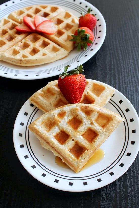 Eggless Waffle Recipe (Vegan Waffles) How to make Vegan ...