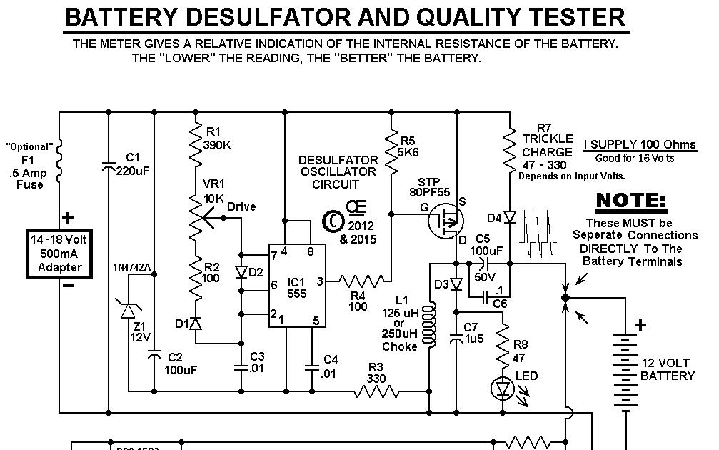 Battery Desulfator Circuit Diagram | Diy Battery Desulfator Schematic
