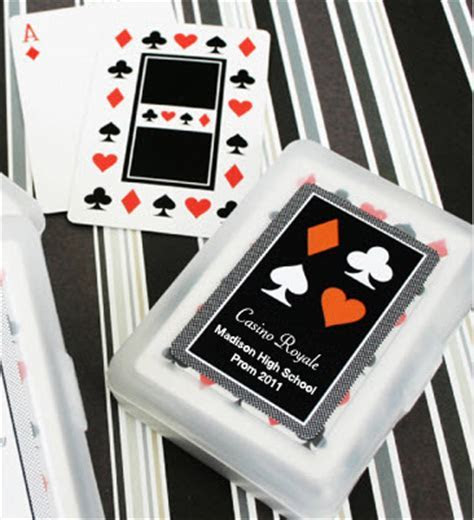 Custom Label Prom Playing Cards Deck, Personalized Playing