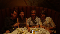 Dinner with Aaron Wiesenfeld.
