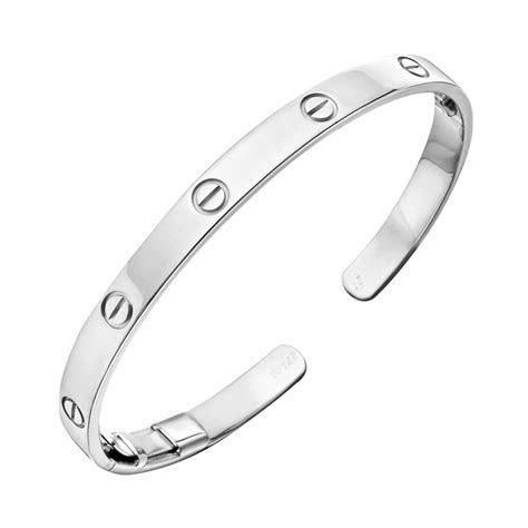 "Estate Cartier 18k White Gold ""Love"" Cuff Bracelet"