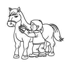 Dibujos Para Colorear Una Niña Montando A Caballo Eshellokidscom