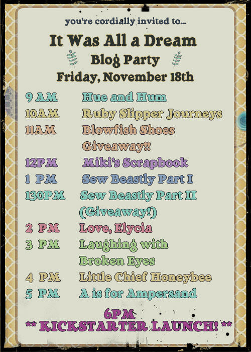 Blog party schedule