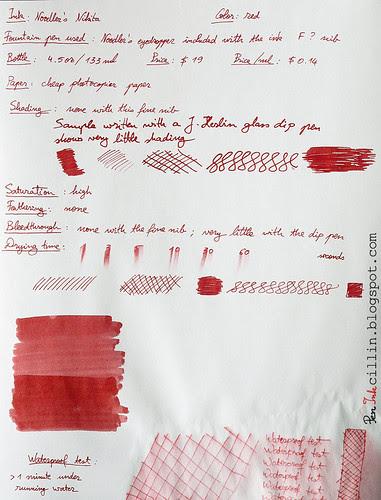 Noodler's Nikita ink on photocopier paper