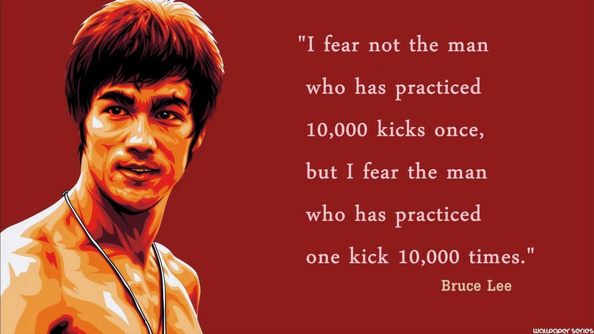 Bruce Lee Practiced Quotes Wallpaper 05657 Baltana