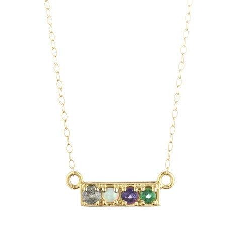 Code Word Love Necklace 18k Gold