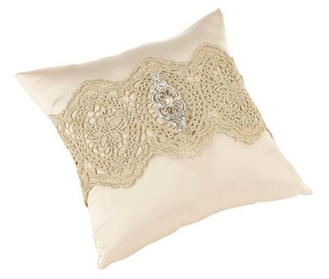Vintage Gold Lace Ring Pillow by Lillian Rose