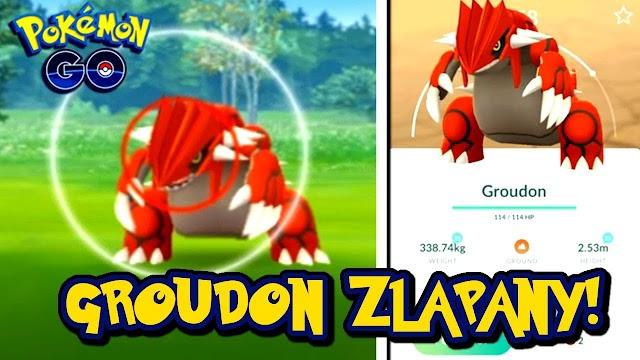Groudon Pokemon Go / First Pokémon GO screenshot of successfully caught Shiny ...