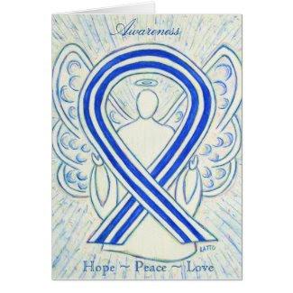ALS Awareness Ribbon Angel Holiday Greeting Card