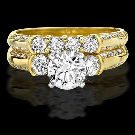 Knife Edge Round Diamond Matching Engagement and Wedding