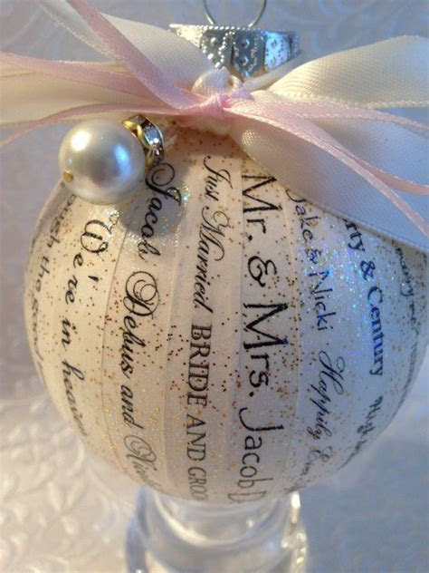 Personalized Wedding Ornament, Christmas Ornament, First