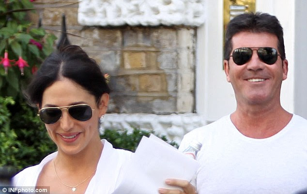 Cowell stepped out with Ms. Silverman earlier that day fro a spot of shopping in Knightsbridge