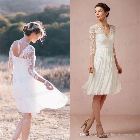 Wholesale Lace Bridesmaid Dress   Buy 3/4 Long Sleeves