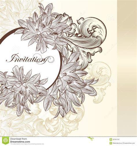Elegant Wedding Invitation Card For Design Royalty Free