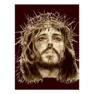 Jesus Christ with a Crown of Thorns Print