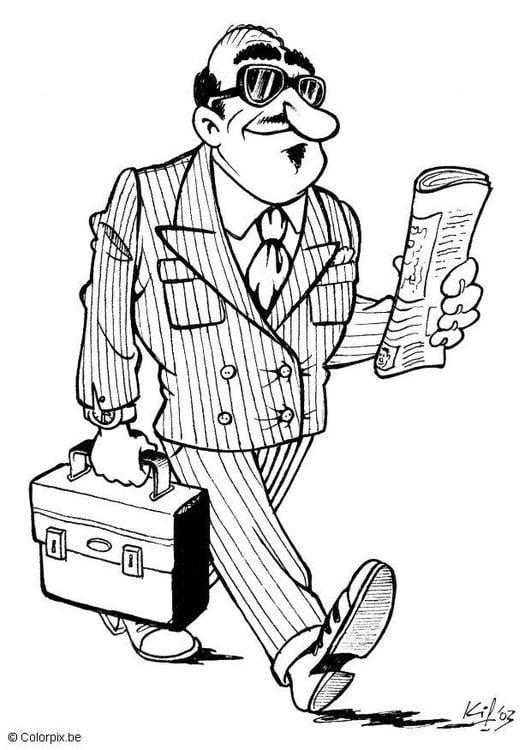 Dibujo Para Colorear Hombre De Negocios Img 5703