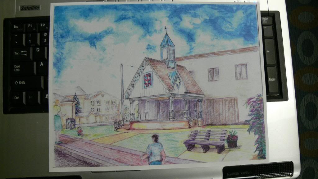 An artist representation of the renovated Town Gazebo