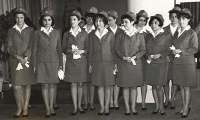 Photo of Turkish Airline hostesses in 1947
