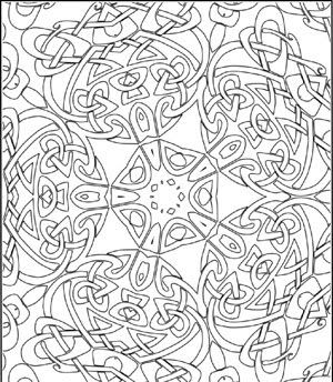 Celtic Kaleidoscope Design Poster To Color By Lee Hansen For Clip Art And Crafts