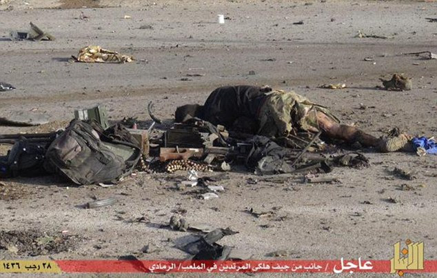 Butchered: Around 500 people are understood to have been killed over the past few days as the capital of Iraq's Anbar province fell to the terror group