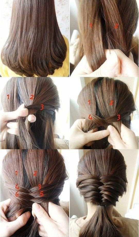 Cute Hair Styles for Medium Hair: Low Ponytail Hairstyles