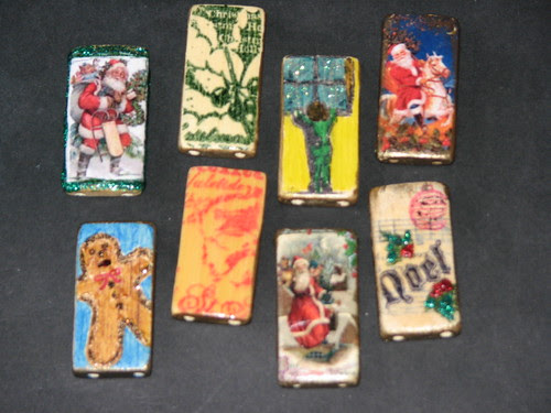 25 Days of Hand Crafted Gifts & Ornaments - Bamboo Tile Charms 013