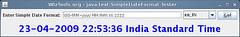 WizTools.org - java.text.SimpleDateFormat Tester