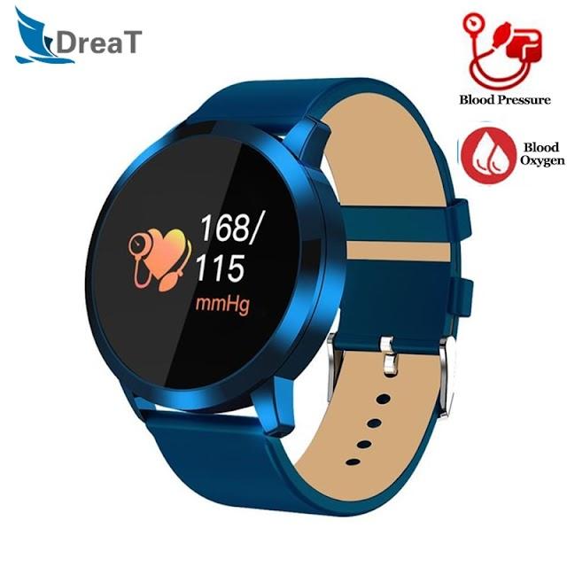 Kopen Goedkoop Mannen Horloge Vrouwen Oled Horloges Q8 Bloeddruk Zuurstof Smart Polsband IP67 Waterdichte Fitness Tracker Stappenteller Slimme Armband Online