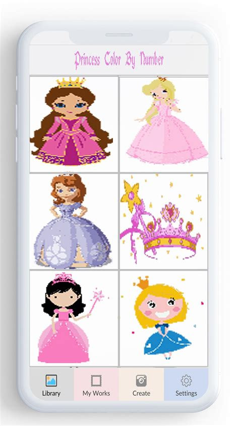 android icin sayiya goere prenses renk prenses boyama
