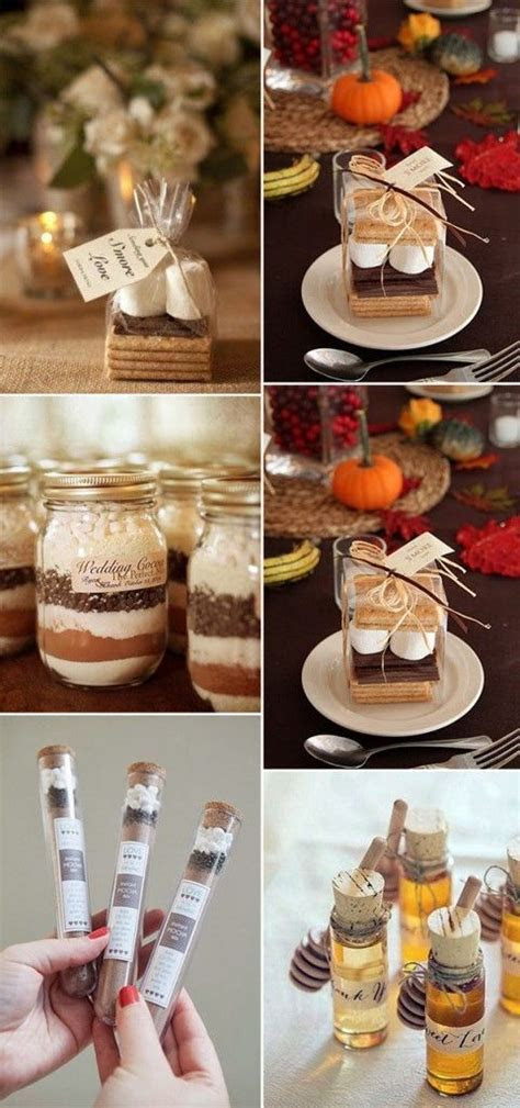perfect pratical fall wedding favors for autumn wedding