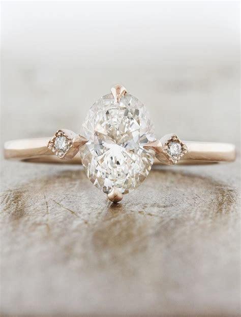 Bianca: Oval Diamond Ring in Rose Gold   Ken & Dana Design