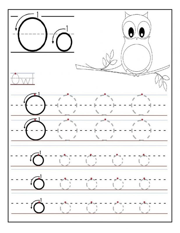 Letter o Tracing Worksheet for kids 618x800
