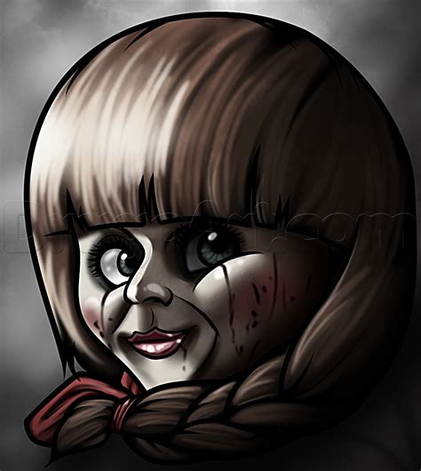 draw annabelle step  step movies pop culture