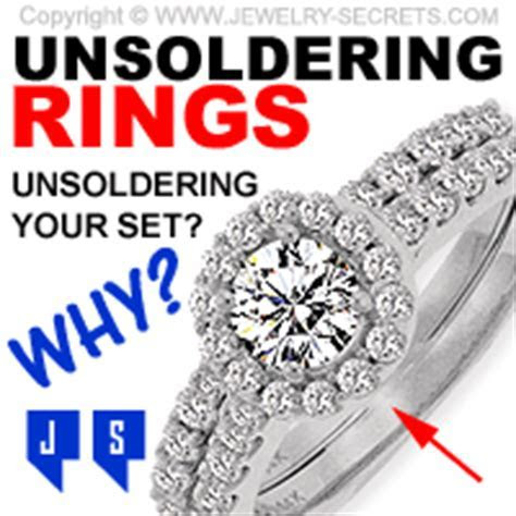 UNSOLDERING WEDDING RINGS AND SETS ? Jewelry Secrets