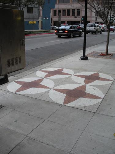 I see quilt blocks in side walks