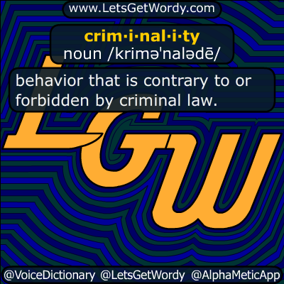 criminality 07/31/2018 GFX Definition