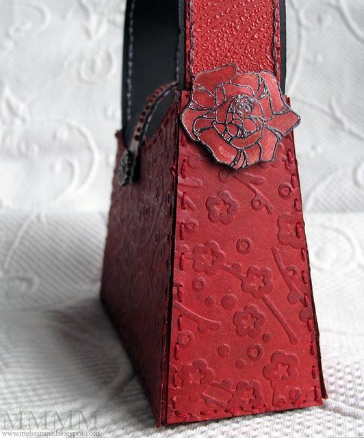 roses to embellish brads holding handle on