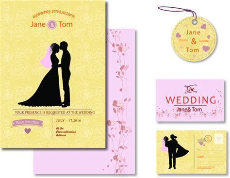 Wedding invitation template coreldraw free vector download