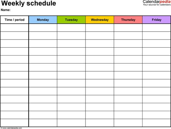 90 Day Calendar Template | Montly Calendar | Pinterest | Blank ...