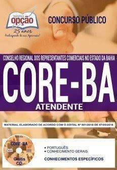 Apostila Concurso CORE BA 2018 | ATENDENTE