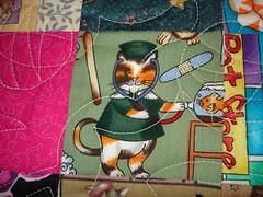 doctor cat quilt fabric