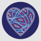 Haiti Relief Valentine Stickers sticker