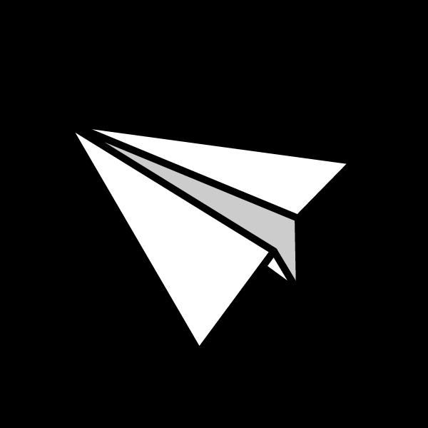 かわいい紙飛行機の無料イラスト商用フリー オイデ43