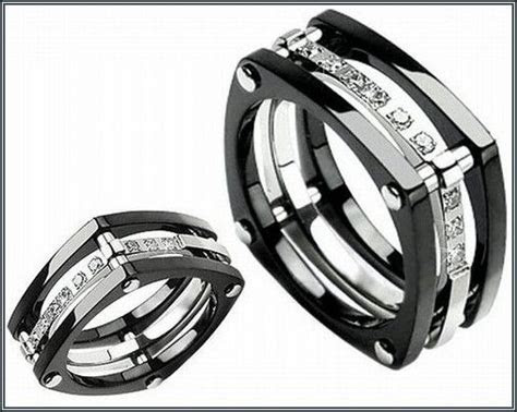 Astonishing Black Tungsten Wedding Bands With Diamonds For