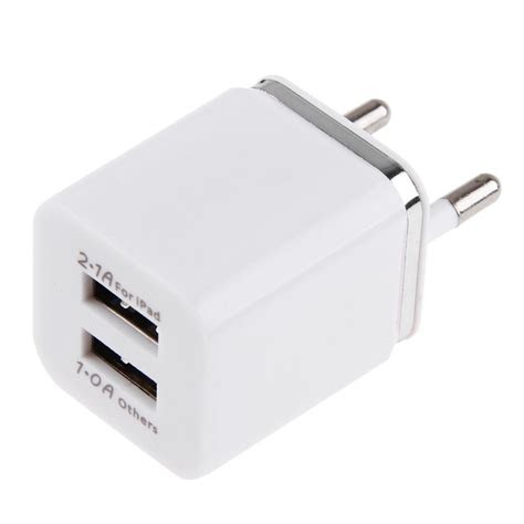 dual usb port wall home travel ac charger adapter