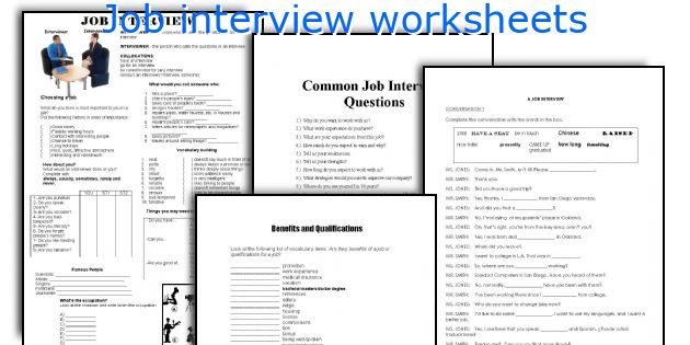 English teaching worksheets: Job interview