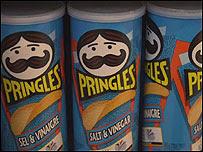 Envase de las patatas Pringles