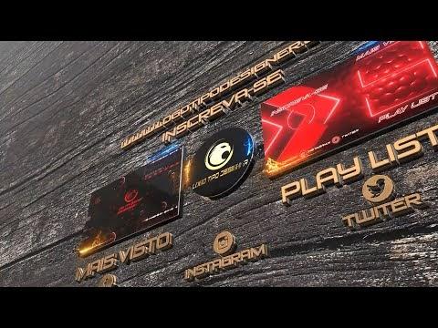 Tela Final #138 Editavel Logo Tipo Designer Tutorial no Final do vídeo