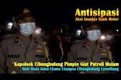 Antisipasi Genk Motor, Kapolsek Cibungbulang Pimpin Giat Patroli Malam, Sisir Ruas Jalan Utama Cibungbulang